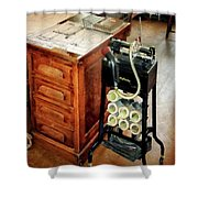 Old Fashioned Dictaphone Shower Curtain by Susan Savad