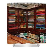 Old-fashioned Fabric Shop Shower Curtain