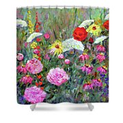 Old Fashioned Garden Shower Curtain