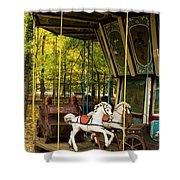 Old-fashioned Merry-go-round Shower Curtain