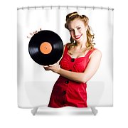 Old Fashioned Music Shower Curtain