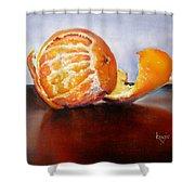 Old Fashioned Orange Shower Curtain