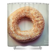 Old Fashioned Sugar Donut Shower Curtain