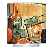 Old Fashioned Sweet With Olives Shower Curtain