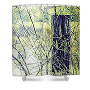 Old Fence Post Shower Curtain