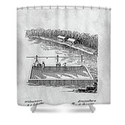 Old Ferryboat Patent Shower Curtain