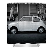 Old Fiat On The Streets Of Florence Shower Curtain