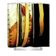 Old Film Reels Shower Curtain