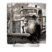 Old Firetruck Shower Curtain