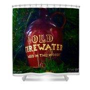Old Firewater Aged In The Woods Shower Curtain