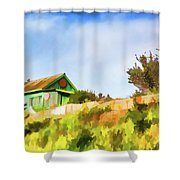 Old Fisherman's House On The Hill Shower Curtain
