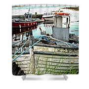 Old Fishing Boats Shower Curtain