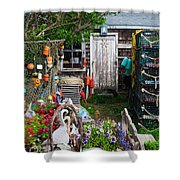 Old Fishing  House 2 Shower Curtain