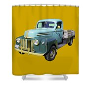 Old Flat Bed Ford Work Truck Shower Curtain