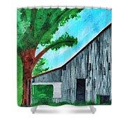 Old Florida Barn Shower Curtain