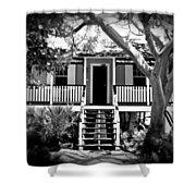 Old Florida Cottage Shower Curtain