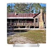Old Florida Cracker Home Shower Curtain