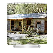 Old Florida Home Shower Curtain