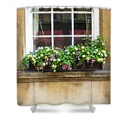 Old Flower Box Shower Curtain