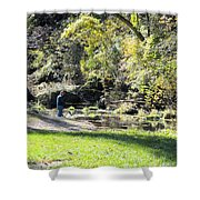 Old Fly Fisherman Shower Curtain