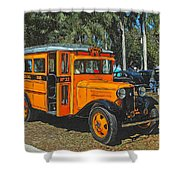Old Ford School Bus No. 32 Shower Curtain