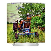 Old Ford Tractor Shower Curtain