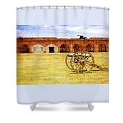 Old Fort And Cannon Still Liife Shower Curtain