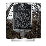 Old Fort Mason Historical Marker Shower Curtain
