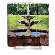 Old Fountain Shower Curtain