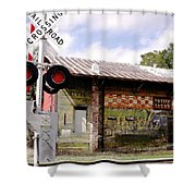 Old Freight Depot Perry Fl. Built In 1910 Shower Curtain