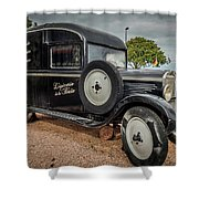 Old French Truck Shower Curtain