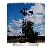 Windmill Color  Shower Curtain