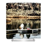 Old Friends Fishing Shower Curtain