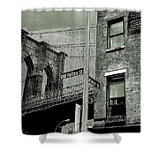 Old Fulton And Water Streets 2 Shower Curtain