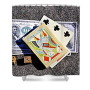 Old Gambling Articles Shower Curtain