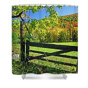 Old Gate At East Orange Shower Curtain