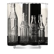 Old Glass Bottles Shower Curtain