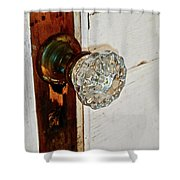 Old Glass Doorknob Shower Curtain