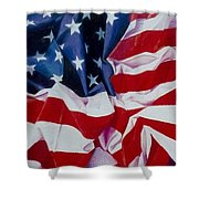 Old Glory  1 Shower Curtain