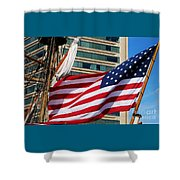 Old Glory In Baltimore Shower Curtain