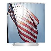 Old Glory - Long May She Wave Shower Curtain