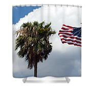 Old Glory Monument At Titusville Florida Shower Curtain