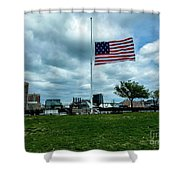 Old Glory Over Baltimore Shower Curtain