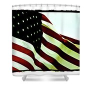 Old Glory Shower Curtain