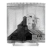 Old Grain Elevator Shower Curtain