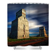 Old Grain Elevators Shower Curtain