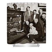 Old Grate That First Burned Anthracite Coal Successfully In The Old Fell House Wilkes Barre Pa Shower Curtain