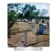 Old Grave Site 2 Shower Curtain