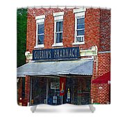 Old Guerins Pharmacy Shower Curtain