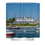 Old Harbor View Shower Curtain